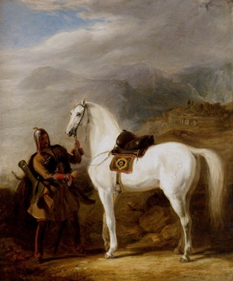 Allan Sir William A Circassian Chief Preparing His Stallion