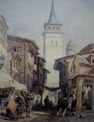 Amedeo Preziosi A Street In Istanbul
