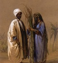 Amedeo Preziosi An Egyptian Man And His Wife