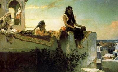 Benjamin Jean Joseph Constant Une Terrasse Au Maroc