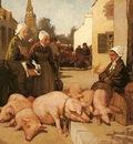 Charles Cottet Selling Livestock