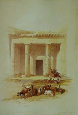 David Roberts Entrance To The Caves Of Beni Hassan