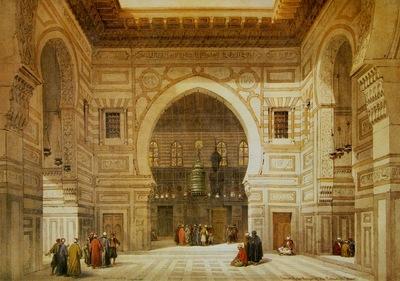 David Roberts Interior Of The Mosque Of The Sultan El Ghoree