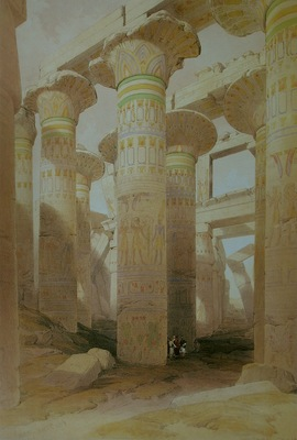 David Roberts Part Of The Hall Of Columns At Karnak