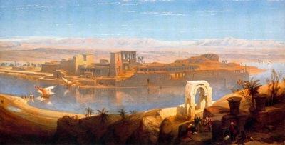 David Roberts Philae In Nubia