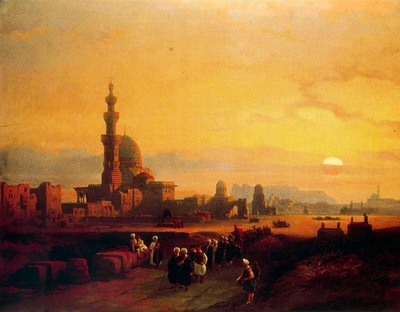 David Roberts Procession Past The Tombs Of The Khalifs