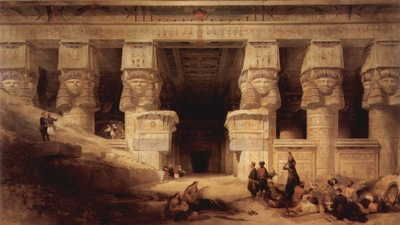 David Roberts The Temple At Dendera