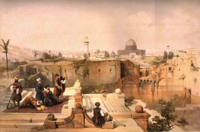 David Roberts View To Masjid Al Aqsa