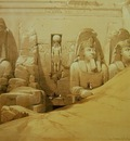 David Roberts Colossal Figures In Front Of The Great Temple Of Abu Simbel