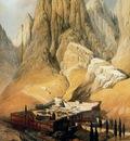 David Roberts Convento De Santa Catalina Con El Monte Horeb