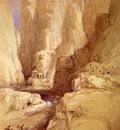 David Roberts Entrance To Petra
