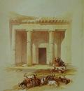 David Roberts Entrance To The Caves Of Beni Hassan