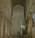 David Roberts Interior Of The Mosque Of The Metwalis
