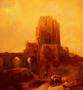 David Roberts Moorish Tower On The Bridge At Cordova