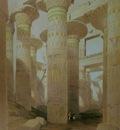David Roberts Part Of The Hall Of Columns At Karnak