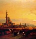 David Roberts Procession Past The Tombs Of The Khalifs