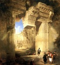 David Roberts The Gateway Of The Great Temple At Baalbec