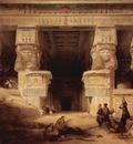 David Roberts The Temple At Dendera