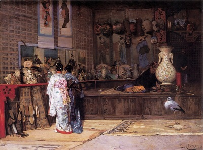 Edouard Castres At The Japanese Market
