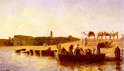 Edwin Lord Weeks At The River Crossing