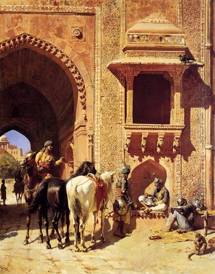 Edwin Lord Weeks Edwin Lord Weeks Gate Of The Agra Fortress
