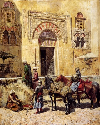 edwin lord weeks entering the mosque