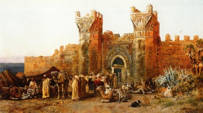Edwin Lord Weeks Gate Of Shehal In Morocco