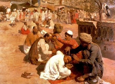 Edwin Lord Weeks Indian Barbers In Saharanpore