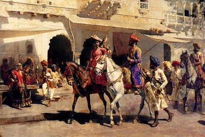 edwin lord weeks leaving for the hunt at gwalior