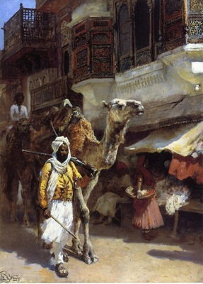 Edwin Lord Weeks Man Leading A Camel