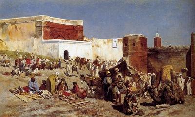Edwin Lord Weeks Moroccan Market In Rabat