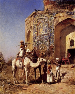 Edwin Lord Weeks Old Blue Tiled Mosque Outside Of Delhi
