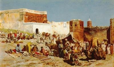 Edwin Lord Weeks Open Market In Morocco