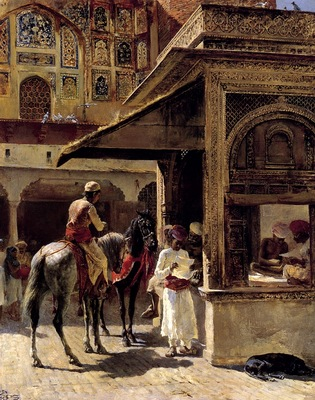 Edwin Lord Weeks Street Scene In India