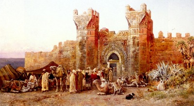 Edwin Lord Weeks The Departure Of A Caravan From The Gate Of Shelah In Morocco