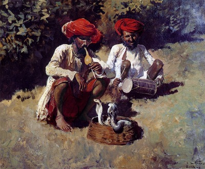 Edwin Lord Weeks The Snake Charmers In Bombay