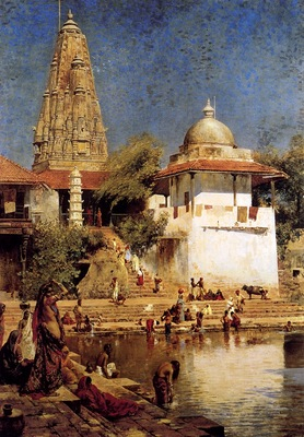Edwin Lord Weeks The Temple And Tank Of Walkeshwar At Bombay