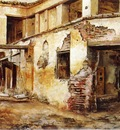 Edwin Lord Weeks Courtyard In Morocco