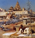 Edwin Lord Weeks Feeding The Sacred Pigeons in Jaipur