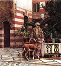 Edwin Lord Weeks Girl In A Moorish Courtyard