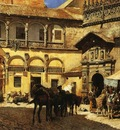 Edwin Lord Weeks Market Square In Front Of The Sacristy And Doorway Of The Cathedral At Granada