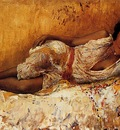 Edwin Lord Weeks Moorish Girl Lying On A Couch