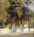 Edwin Lord Weeks Street Scene In Bombay