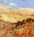 Edwin Lord Weeks Village In Atlas Mountains In Morocco