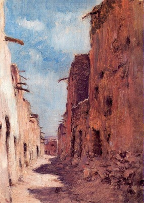 Etienne Dinet A Street in Laghouat