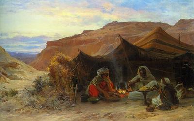 Eugene Alexis Girardet Bedouins In The Desert