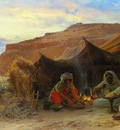 Eugene Alexis Girardet Bedouins In The Desert