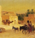 Eugene Alexis Girardet Leaving The Market