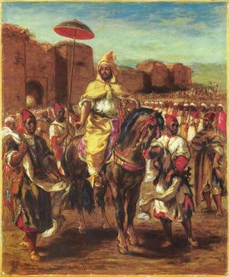 Eugene Delacroix Sultan Of Morocco