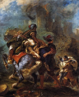 Eugene Delacroix The Abduction Of Rebecca